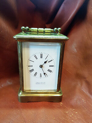 Antique French Carriage Clock Cooke&kelvey,london&calcutta Enamel Dial