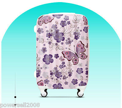 "#1 28"" New Elegant Butterfly Universal Wheel ABS+PC Travel Suitcase Luggage LLX"