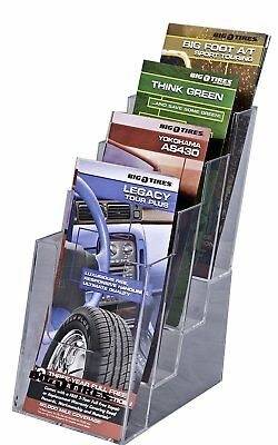 OpenBox Clear-Ad - LHF-S104 - Acrylic Slant Back 4 Tier Trifold Brochure Display