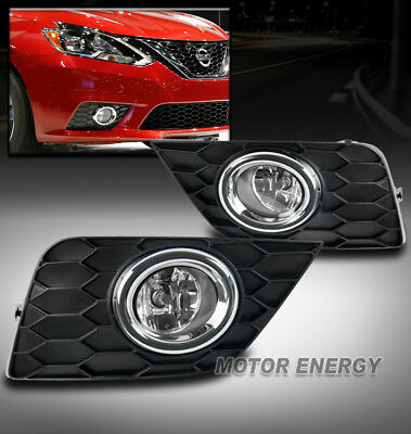 BUMPER DRIVING YELLOW LENS FOG LIGHTS LAMPS FOR 16-17 SENTRA LEFT+RIGHT NEW PAIR