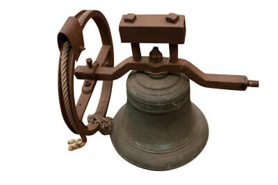Antique French Church Bell, Early 19th Century, Bronze & Iron