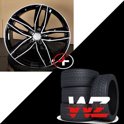 19 1196 Style Black Machined Wheels Tires Fits Audi A3 A4 A5 A6 S3 S4 S5 S6 A7