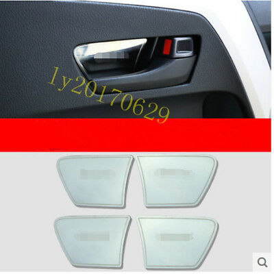 4PCS Blue Stainless Interior door bowl Decorative trim For Toyota RAV4 2016-2018