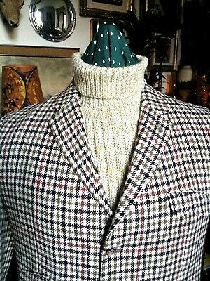 Vintage 1960s 70s Tootal Cable Arron Chunky Roll Neck Jumper,Mod.Medium-Large vg