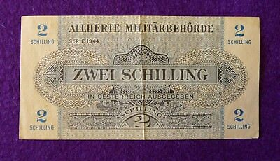 Allied Military Currency 2 and 20 Schilling Austria Banknote 1944