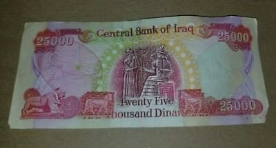 100,000 IRAQI DINAR ACTUAL CIRCULATED FROM IRAQ  4 x 25,000 100,000 IQD TOTAL