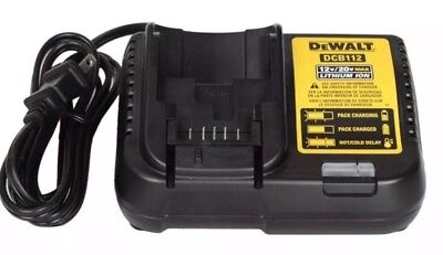 New Dewalt 12V & 20V Volt Max Lithium Ion Battery Charger DCB112 Free Shipping