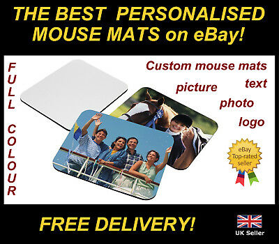 Personalised Mouse Mat Gift Ur Photos / Designs Printed Free Postage