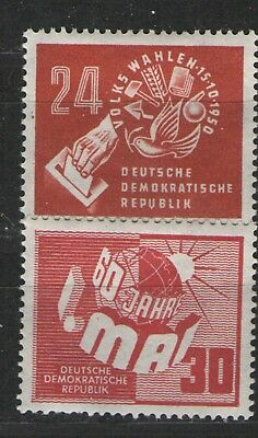 Germany GDR/DDR 1950 Sc# 50 & 70 MH VF Nice pair of these scarce mint issues