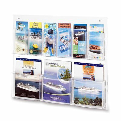 OpenBox Safco Products 5666CL Clear2c Literature Display, 3 Magazine and 6 Clear