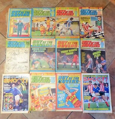 *JOBLOT of 12* ROY of the ROVERS & 2 SHOOT COMIC BOOKS 1980 1981 1982 1983 VGC