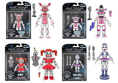 Set of 4: Funko Five Nights At Freddy's Sister Location Ballora Baby Foxy Freddy