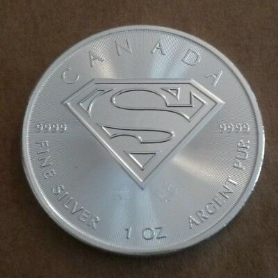 2016 Royal Canadian Mint Superman 1-oz .999 silver coin