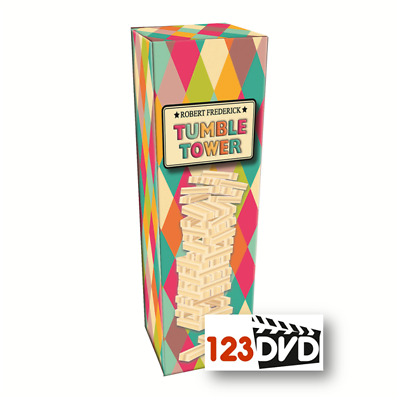 Robert Frederick Harlequin Wooden Tumble Tower - Jenga Style Party Game NEW