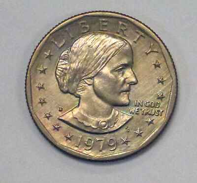 {BJSTAMPS}  1979 D  SUSAN B Anthony Dollar SBA  Rainbow toning