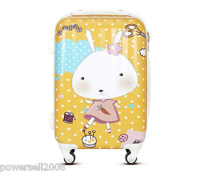 "28"" New Fashion Lovely Rabbit Universal Wheel ABS+PC Travel Suitcase Luggage LLX"