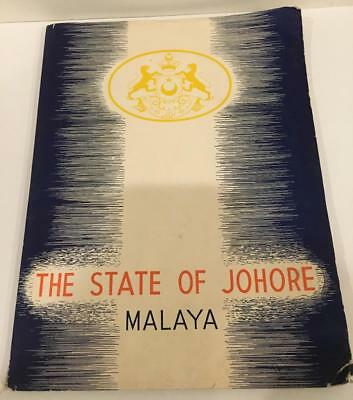 The State of Johore Malaya 1939 Printed in Singapore Inscribed World's Fair