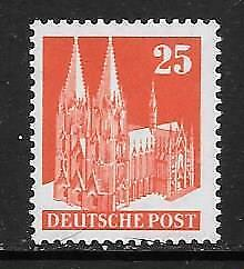GERMANY - Allied Occ. 1948 Defin - 25pf.  Perf. 14, Type III, MNH - Cat £95