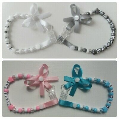 ***Any Name***Choose color***Personalised Dummy Clip*For Girls and Boys