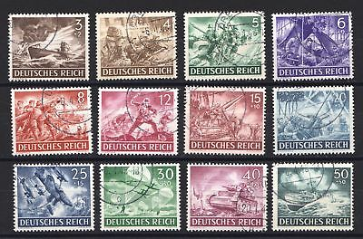 Germany 1943 Armed Forces' and Heroes' Day - Used set - Cat £27.85  - (134)