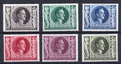 Germany 1943 Hitler's 54th Birthday & Culture Fund - Mint hinged set - (132)