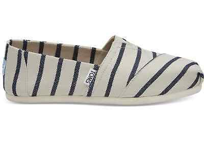 aa7cf49ff62 TOMS Womens Classics White Navy Riviera Stripe Espadrilles Slip On Various  Sizes