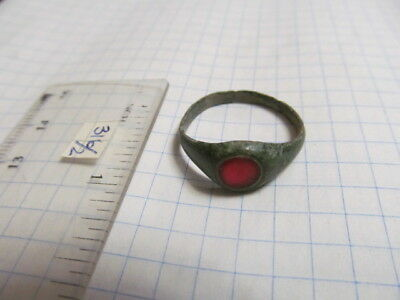 Ancient bronze ring with stone № 316/2.