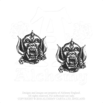 Alchemy Rocks - Motorhead - Warpig Pewter Stud Earrings Metal Lemmy