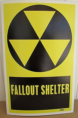 Vintage FALLOUT SHELTER Sign Poster   Man cave decor