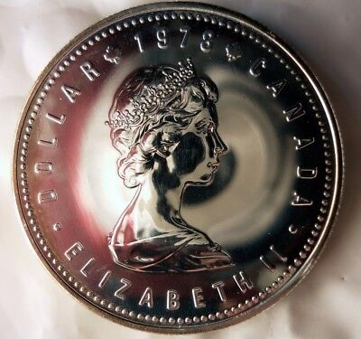 1978 CANADA DOLLAR - SILVER PROOF COIN - Low Mintage UNC - Lot #M21