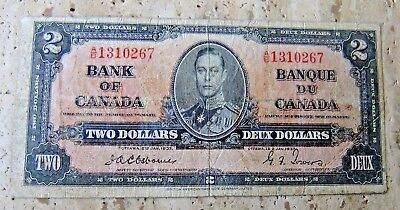 1937 Bank of Canada  Two Dollar Note - OSBOURN / TOWERS  - F