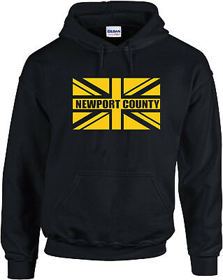 Newport County Fans Themed Union Jack Hoodie All Adult Sizes