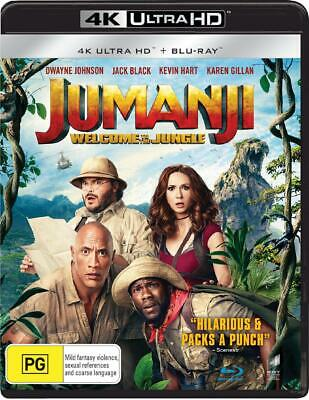 Jumanji - Welcome To The Jungle | Blu-ray + UHD + UV - Blu Ray Region A,B,C Free