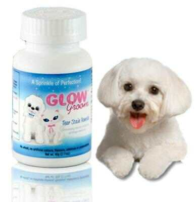 GLOW GROOM Dog Cat Tear Stain Remover Dog Tear Stain Remedy as Angel Eyes 60g