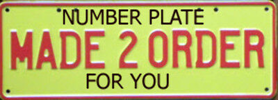 Custom Design Your Own Standard Novelty Number Plate With 2 Sticker Line