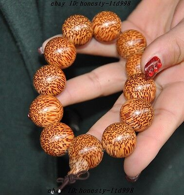 Collect Rare Chinese Old wood Hand-carved Buddha beads bracelet statue