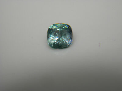very rare Green Purple Blue Kornerupine gem Trichroic Tanzania gemstone cushion