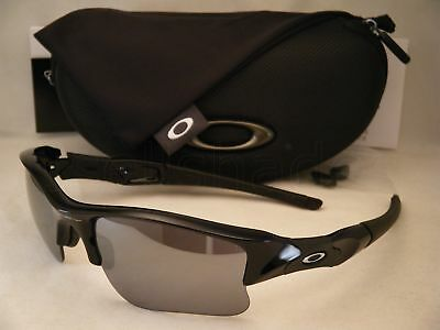 19edffa848e9 Oakley Flak Jacket XLJ Jet Black w Black Iridium Lens NEW Sunglasses (03-915