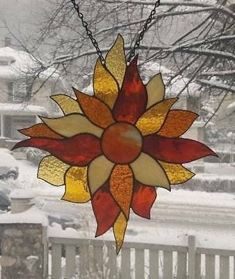 **LET the SUN SHINE IN**Stained Glass Window Panel (Signed and Dated)