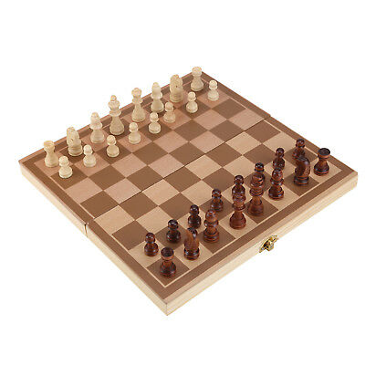 Folding wooden Chess High Quality Chess Set Folding 30cm X 30cm UK SELLER