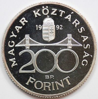 Hungary 1992 Silver Proof 200 Forint