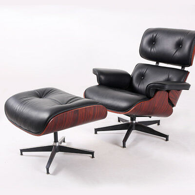 Eames Style Chair U0026 Ottoman 100% Top Eames Leather Lounge Chair Genuine Hot  Sale