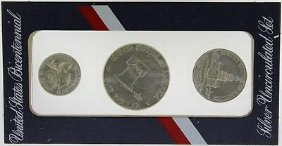 USA 1976 'Bi-Centennial' Silver 3 Coin Mint Set in original envelope