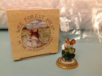 Wee Forest Folk M-80a Girl Sweetheart, St. Patrick's Day Ed., new in box