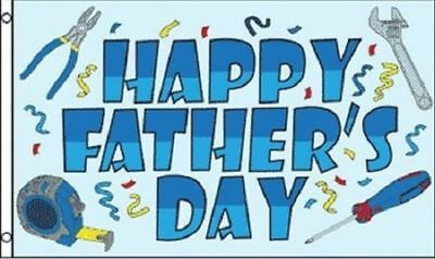 Happy Fathers Day Flag Party Banner Sign for Dad Large 3x5 Foot Indoor Outdoor
