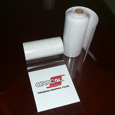 """4"""" x 100 FT MEDIUM Tack Clear Transfer Tape / Application Tape *CLEARANCE SALES*"""