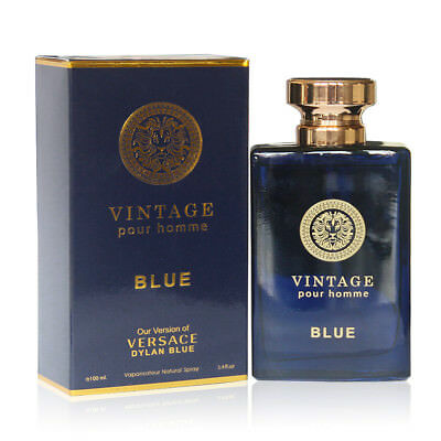 VINTAGE BLUE, Eau De Parfum for Men, Mediterranean Freshness, 3.4 Fluid Ounce