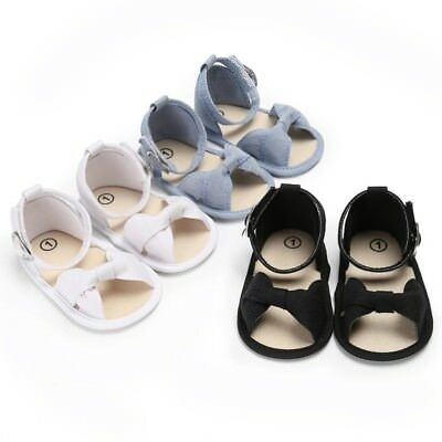 Summer Baby Girls Bow Princess Shoes Casual Toddler Casual Soft Sandals 0-18M AU
