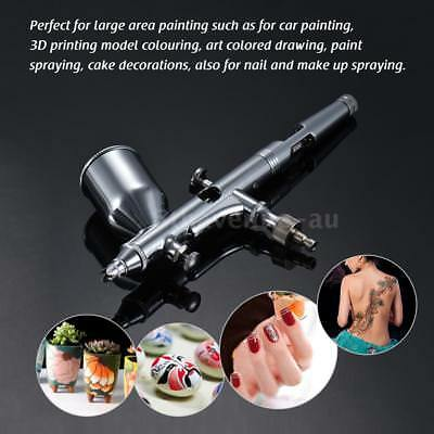 0.3mm Gravity Feed Dual-action Airbrush Kit Air Brush Paint Artist 13cc Cup T1K7