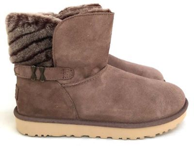 3e9590453be UGG ADRIA SOFT Suede and Sheepskin Wool Lining Winter Women's Stormy Gray  Boot 9